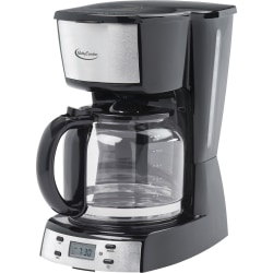 Betty Crocker BC-2809CB 12-Cup Stainless Steel Coffee Maker - Programmable - 1.90 quart - 12 Cup(s) - Multi-serve - Timer - Stainless Steel - Glass