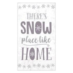 "Amscan Christmas Snow Place Like Home 2-Ply Napkins, 7-3/4"" x 4-1/2"", 36 Napkins Per Pack, Set Of 2 Packs"