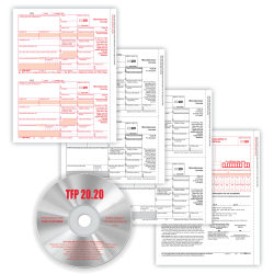 """ComplyRight 1099-MISC Tax Forms With Software, 4-Part, 2-Up, Copies A/B/C, Laser, 8-1/2"""" x 11"""", Pack Of 25 Form Sets"""