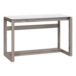 "Whalen Cecile 48""W Writing Desk, Snowdrift White/Fossil Greige Oak"