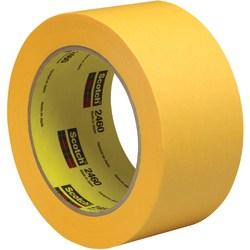 "3M™ 2460 Flatback Tape, 3"" Core, 2"" x 180', Gold, Pack Of 24"