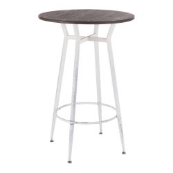 "LumiSource Clara Breakroom Table, 41""H x 27-1/2""W x 27-1/2""D, Vintage White/Espresso"