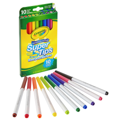 Crayola Super Tips 10-color Washable Markers - Assorted - 10 / Set