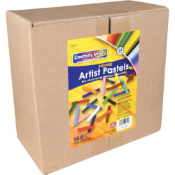 "Pacon Creativity Street Square Artist Pastels - 0.4"" Length - Assorted - 24 / Set"