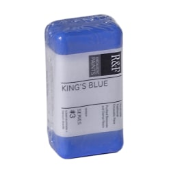 R & F Handmade Paints Encaustic Paint Cakes, 40 mL, King's Blue, Pack Of 2