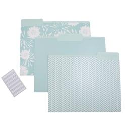 See Jane Work® File Folders, Letter Size, Assorted Blue, Pack Of 6 Folders