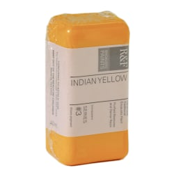 R & F Handmade Paints Encaustic Paint Cakes, 40 mL, Indian Yellow, Pack Of 2