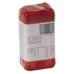 R & F Handmade Paints Encaustic Paint Cakes, 40 mL, Alizarin Orange, Pack Of 2