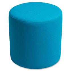 Lorell® Collaborative Seating Cylinder Ottoman, Fabric, Cyan