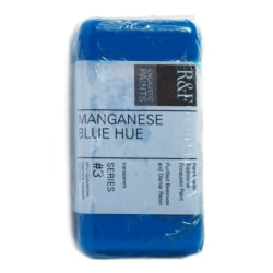 R & F Handmade Paints Encaustic Paint Cakes, 40 mL, Manganese Blue Hue, Pack Of 2