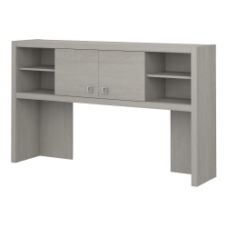 """kathy ireland® Office by Bush Business Furniture Echo Hutch, 60""""W, Gray Sand, Standard Delivery"""
