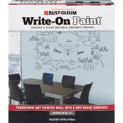 Rust-Oleum Erasable Surface Write-On Paint, 16 Oz, Clear