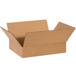 "Office Depot® Brand Corrugated Boxes, Flat, 3""H x 10""W x 14""D, Kraft, Pack Of 25"