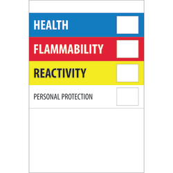 """Tape Logic® Preprinted Shipping Labels, DL1291, Health Flammability Reactivity, Rectangle, 4"""" x 6"""", Multicolor, Roll Of 500"""