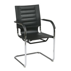 Ave Six Trinidad Guest Chair, Black/Silver