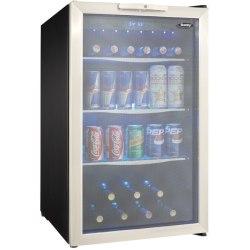 Danby 4.3 Cu. Ft. Beverage Center, Silver/Black