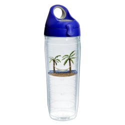 Tervis Water Bottle With Lid, 24 Oz, Palm And Hammock