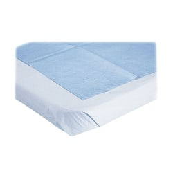 """Medline Disposable Stretcher Sheets, 72""""L x 40""""W, Blue, Box Of 50"""
