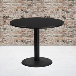 "Flash Furniture Round Hospitality Table, 31-1/8""H x 36""W x 36""D, Black"
