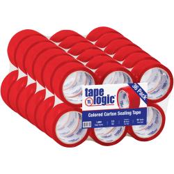"""Tape Logic® Carton Sealing Tape, 2"""" x 55 Yd., Red, Case Of 36"""