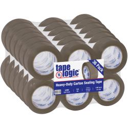 "Tape Logic® Acrylic Sealing Tape, 3"" Core, 2"" x 110 Yd., Tan, Pack Of 36"