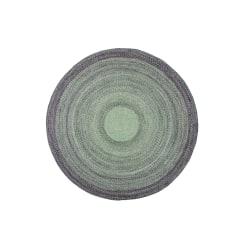 "Anji Mountain Round Frango Rug, 48"", Green/Gray"