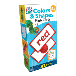 Carson-Dellosa World Of Eric Carle Early Learning Flash Cards, Colors & Shapes, Set Of 82 Flash Cards