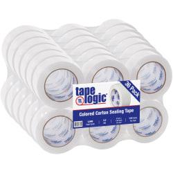 """Tape Logic® Carton Sealing Tape, 2"""" x 110 Yd., White, Case Of 36"""