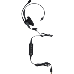 Spracht ZUM™ UC1 Single Ear USB Headset, Black