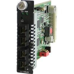 Perle C-100MM-S2SC40 Media Converter - 2 x SC Ports - 100Base-FX, 100Base-EX - Internal