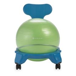 Gaiam Kids' Balance Ball® Chair, Blue/Green