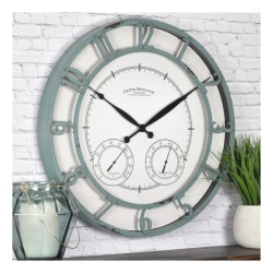 FirsTime & Co.® Laguna Outdoor Clock, Aged Teal