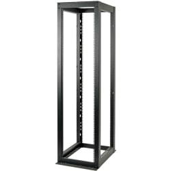 tripp lite 48u 4 post open frame rack cabinet heavy duty 3000lb capacity 48u rack height x 19 rack width x 35 25 rack depth black powder coat