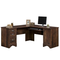 Sauder® Harbor View Collection Corner Computer Desk, Curado Cherry