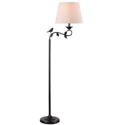 "Kenroy Home Birdsong Floor Lamp, 60""H, Oatmeal Shade/Oil-Rubbed Bronze Base"