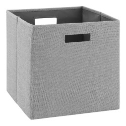 Linon Home Décor Products Emmet Storage Bins, Gray, Pack Of 2 Bins