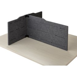 """Safco T-connector Personal Privacy Panel Kit - 36"""" Width - Polyester Fiber, Steel - Gray - 1 Each"""