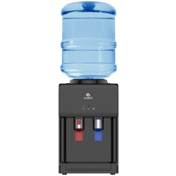 Avalon Premium Hot/Cold Top Loading Countertop Water Cooler Dispenser With Child Safety Lock. UL/Energy Star Approved- Black