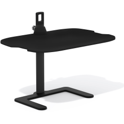 "Safco Height-Adjustable Laptop Stand - 21.5"" Height x 27"" Width x 18"" Depth - Steel, Medium Density Fiberboard (MDF), Aluminum - Black"