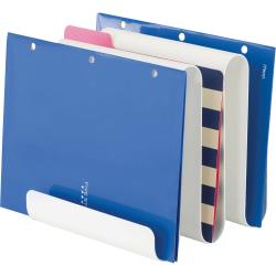 "Safco Wave Desk Desktop File Rack - 9.5"" Height x 9"" Width x 9.3"" Depth - Desktop - Magnetic - White - Steel - 1 Each"