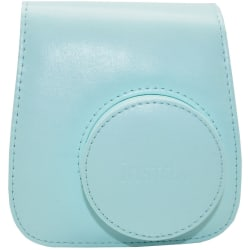 "Fujifilm Groovy Carrying Case Camera - Ice Blue - Synthetic Leather - Debossed Instax Logo - Hand Strap, Shoulder Strap - 6"" Height x 2"" Width x 5"" Depth"