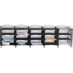 "Safco Onyx Mail Sorter - 500 x Sheet - 20 Compartment(s) - Compartment Size 3.75"" x 11"" x 12.50"" - Black - 1Each"