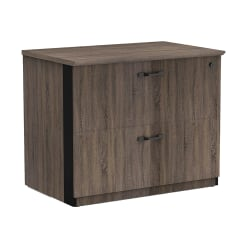 "Forward Furniture Allure 36""W 2-Drawer Lateral File Cabinet, Southern Walnut"