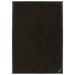 "M + A Matting Colorstar Plush Floor Mat, 24"" x 36"", Black/Brown"