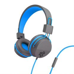 JLab Audio Kids' JBuddies Studio Over-The-Ear Headphones, Gray/Blue, JKSTUDIO GRYBLU BX