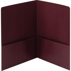 Smead® Linen 2-Pocket Folders, Letter Size, Maroon, Box Of 25 Folders