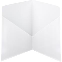 Smead® Classic 2-Pocket Folders, White, Box Of 25 Folders