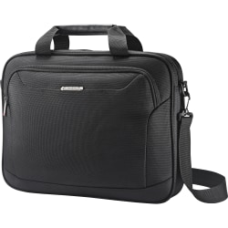 "Samsonite Xenon Carrying Case for 15.6"" Notebook - Black - Drop Resistant Interior, Shock Resistant Interior - 1680D Ballistic Nylon, Tricot Interior - 12.8"" Height x 16.3"" Width x 2"" Depth"