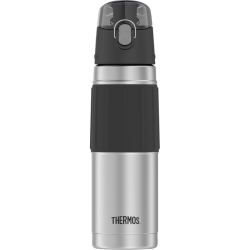 Thermos Stainless Steel Hydration Bottle - 18 fl oz (532.3 mL) - Vacuum - Black, Stainless Steel