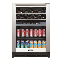 Magic Chef® Dual-Zone Built-In Wine And Beverage Center, 13 Gallons, Stainless Steel